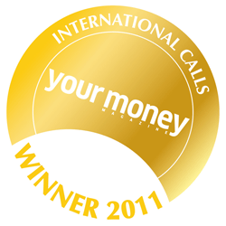 Winner of Your Money Magazine Best Inernational Calls
